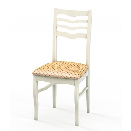 Недорогой стул из дерева для кухни, ткань 39, слоновая кость (арт. М3260)