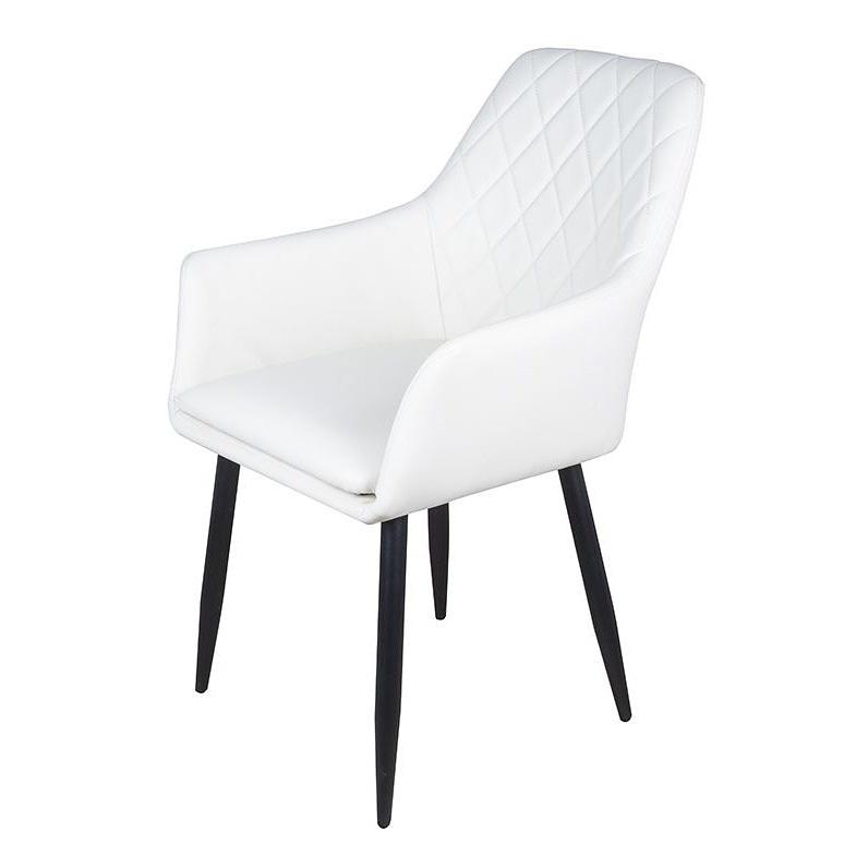 Белый стул для кухни на металлических ножках (арт. М3370)