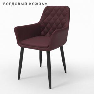 Ар-деко бордовый кожзам м3369