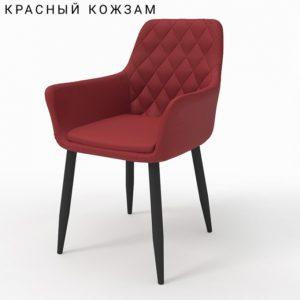 Ар-деко красный кожзам м3368