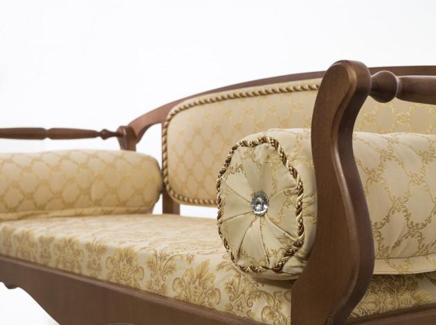 Банкетка в классическом стиле из дерева Шарм орех 120х48 см. (арт. М2078)