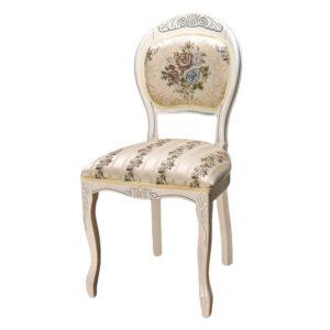 Белый классический стул деревянный М3575