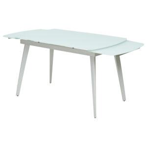 Белый матовый стол на металлическом каркасе М4486