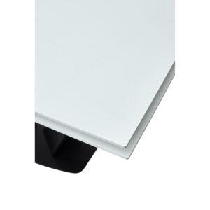 Белый стол каркас черный М4533