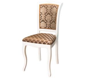 Белый стул С-7 из дереве с узором на спинке м3242
