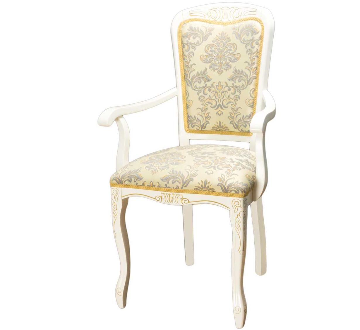 Стул-кресло для кухни белый (арт. М3344)