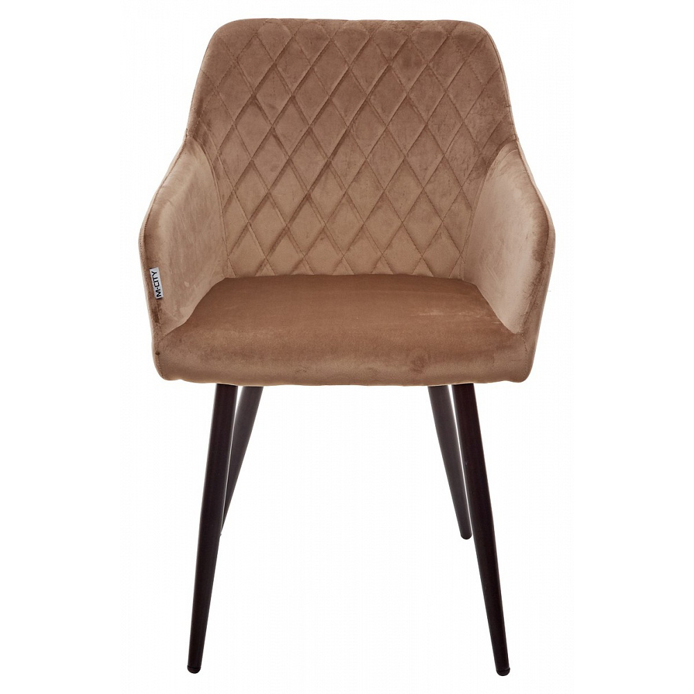 Кухонный стул с подлокотниками, бежевый велюр (арт. М3461)