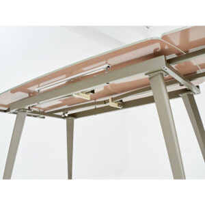 Бежевый стол со стеклом М4487