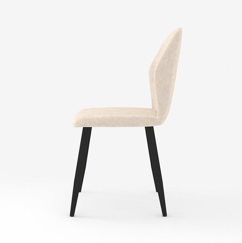 Стильный бежевый стул для кухни, ткань вельвет (арт. М3391)