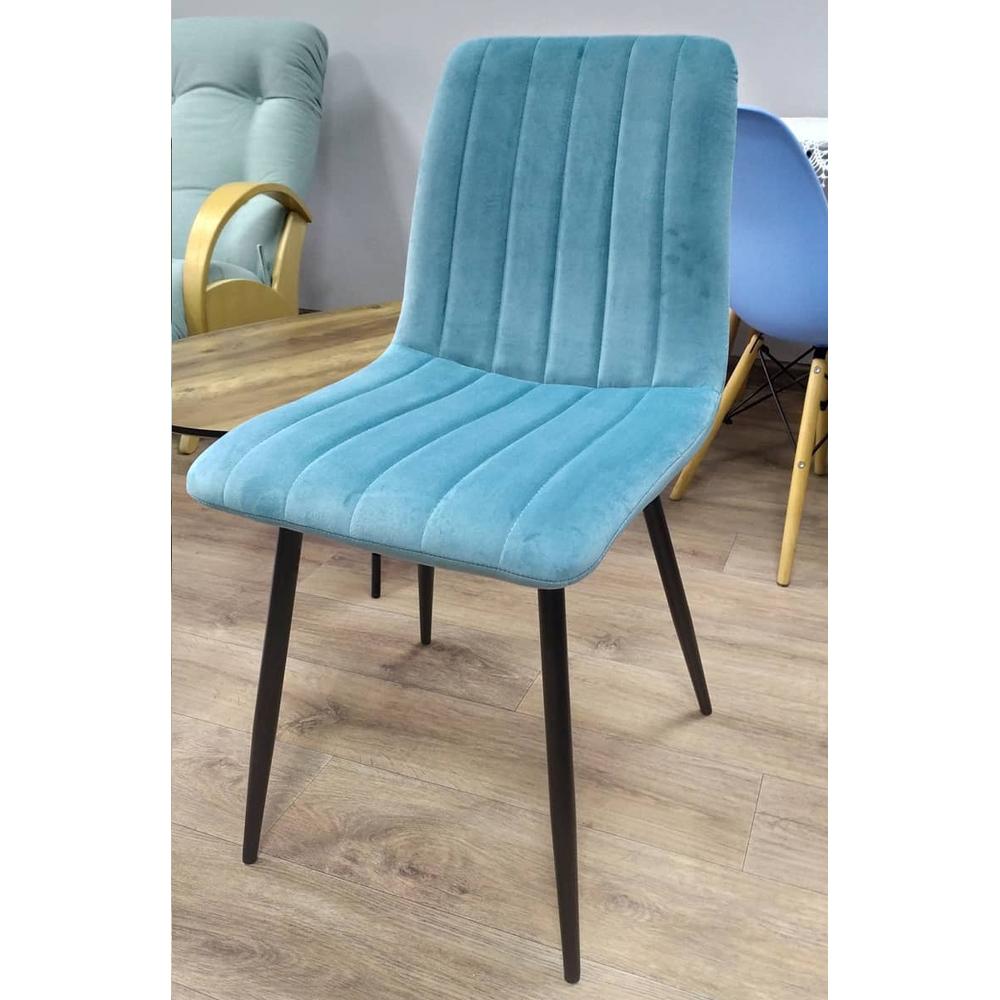 Мягкий велюровый стул бирюзовый кухонный (арт. М3540)