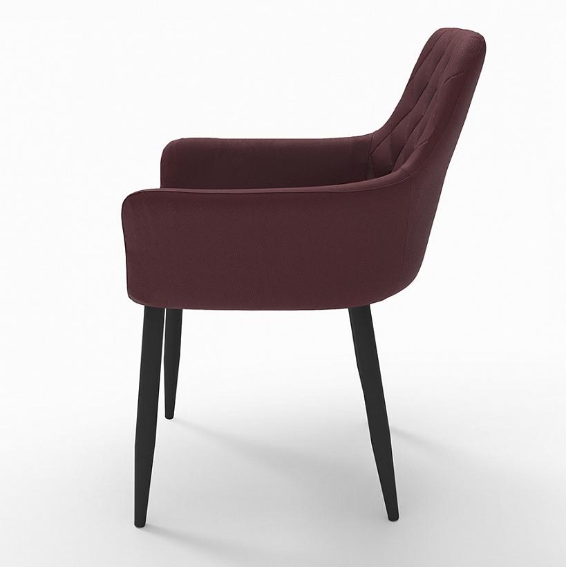 Стул-кресло для кухни с декоративной отстрочкой ромб (арт. М3369)