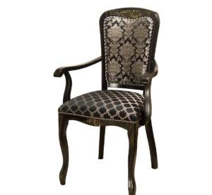 Черный стул с подлокотниками кресло из дерева м3348