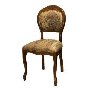 Деревянный стул темный орех ткань М3577