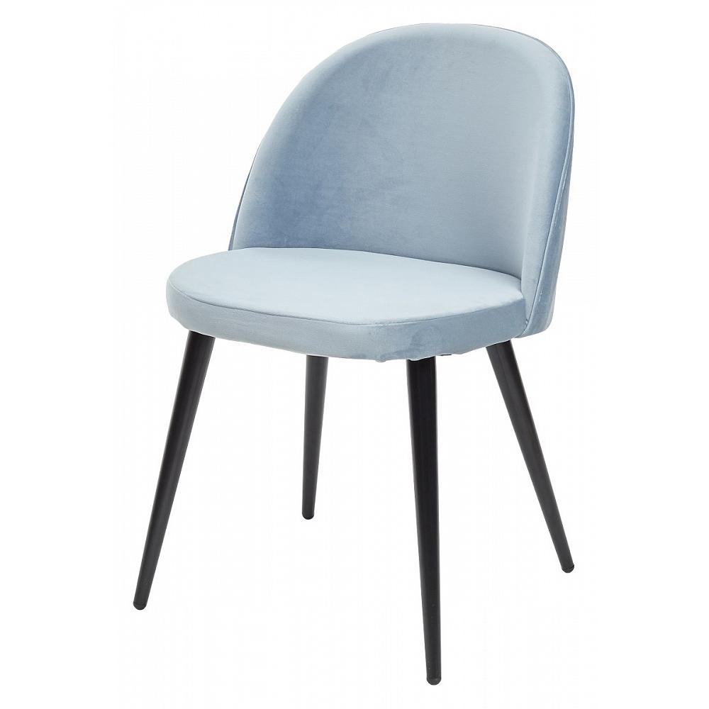Голубой стул для кухни, ткань велюр (арт. М3454)