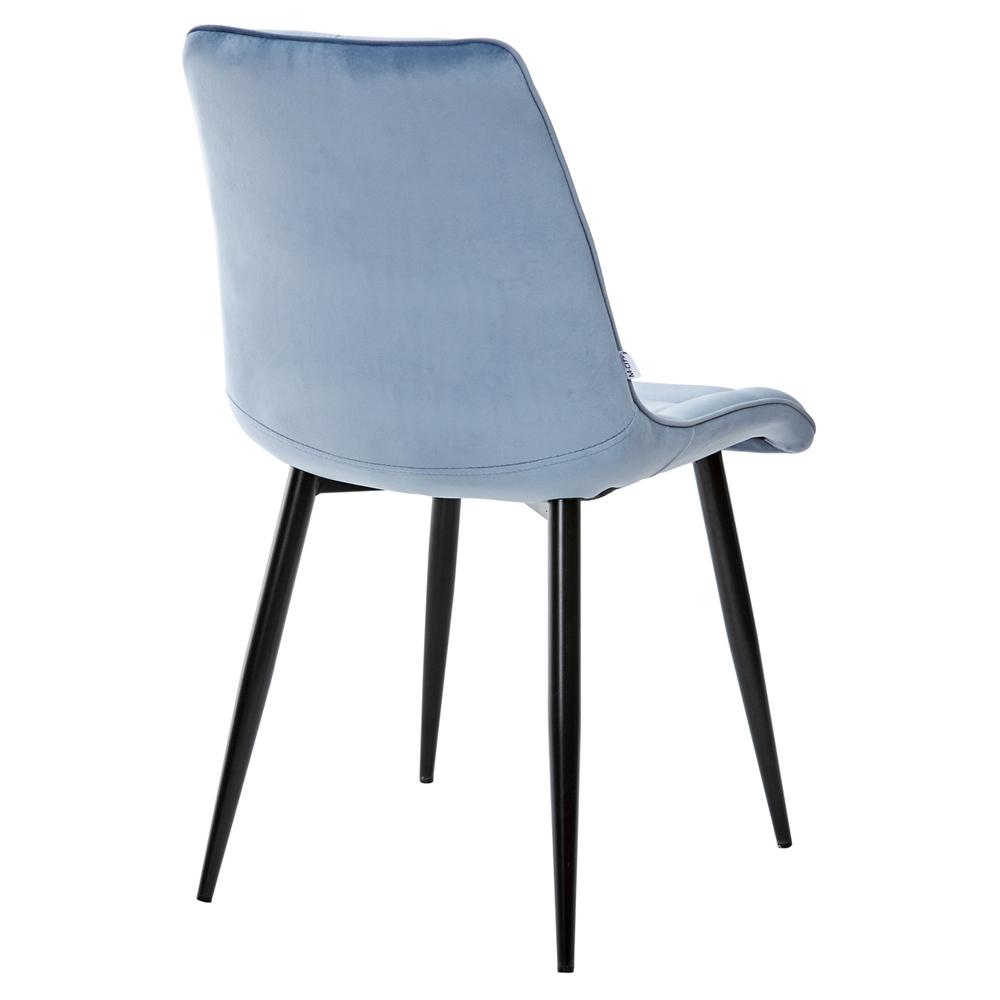Стул велюр, голубой, черные ножки (арт. М3516)