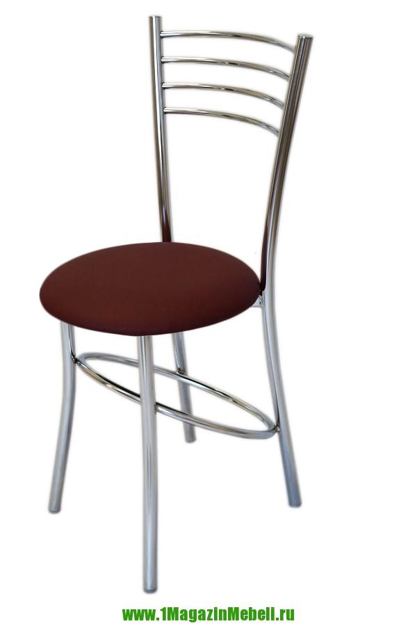 Стул для кухни хромированный, цвет бордовый (арт. М3190)