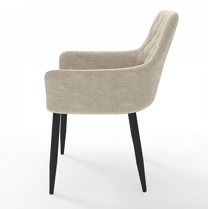 Интерьерный мягкий стул Ар-деко в бежевом цвете (арт. М3374)