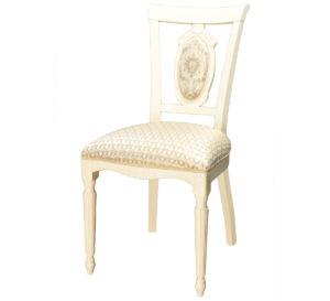 Классический резной стул слоновая кость м3328