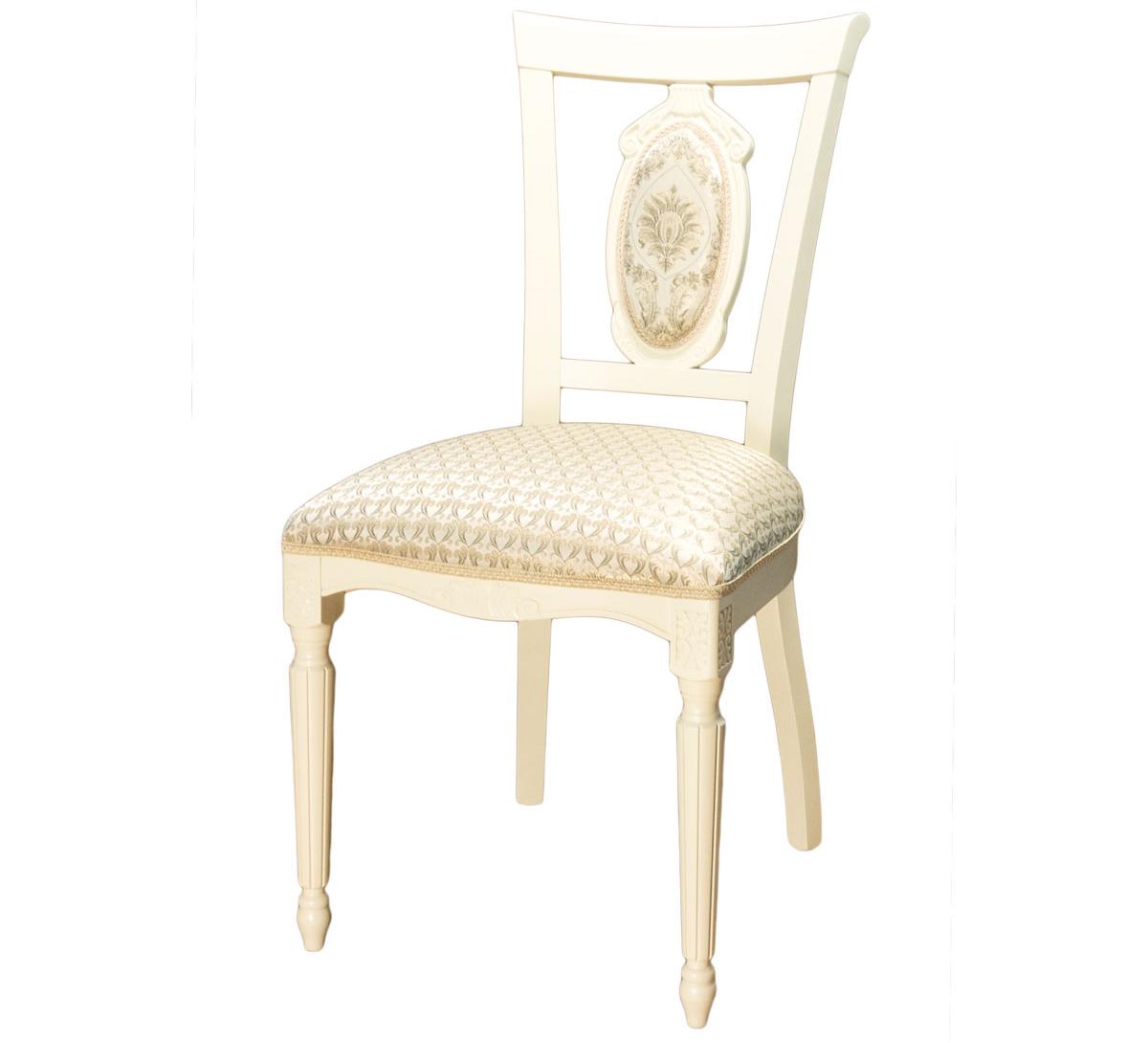 Классический резной стул для кухни слоновая кость (арт. М3328)