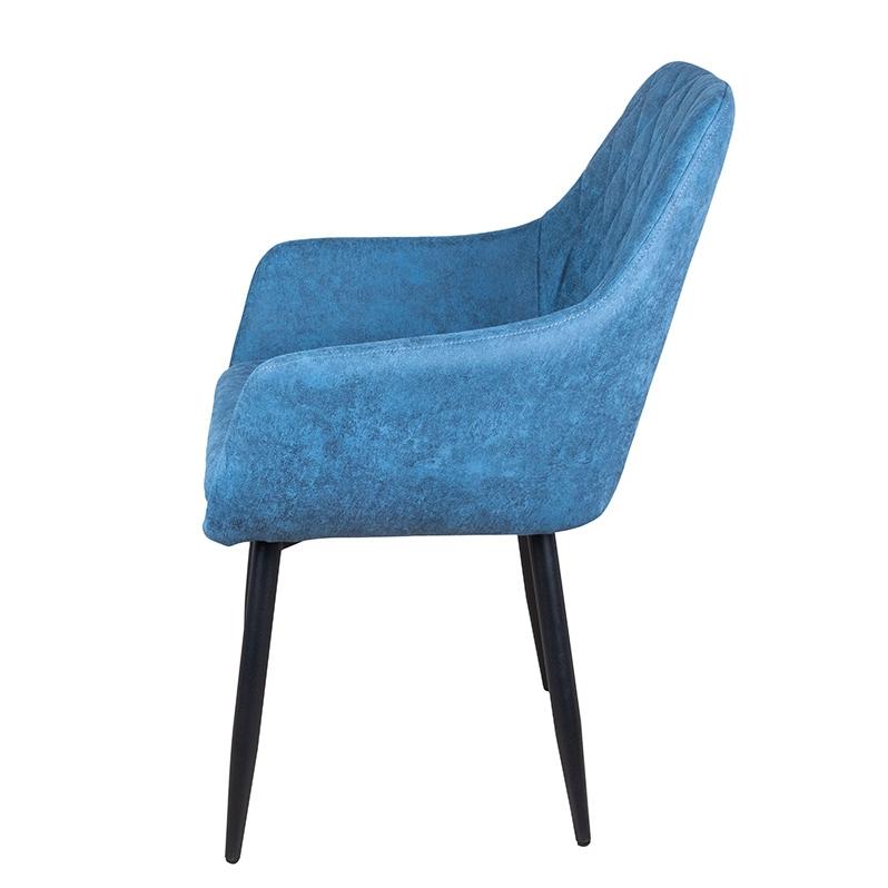 Комфортный мягкий стул Ар-деко цвет голубой (арт. М3375)
