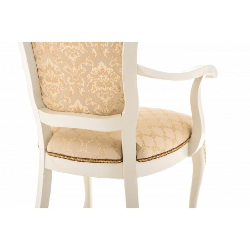 Кресло Руджеро патина золото бежевый, белый (арт. М3360)