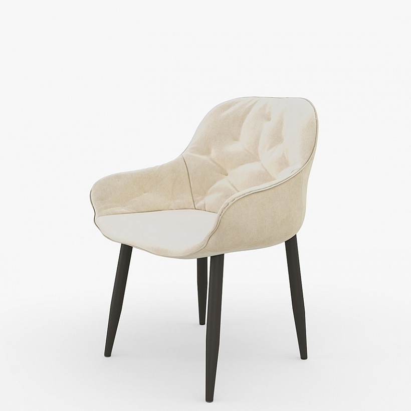 Бежевое кресло-стул с подлокотниками (арт. М3399)