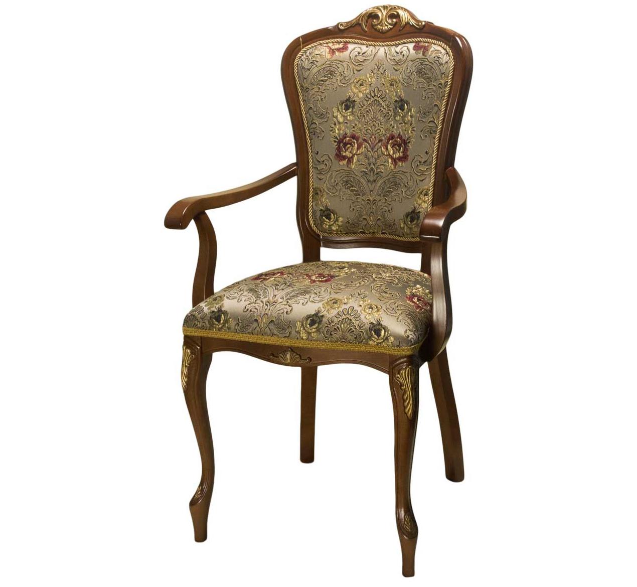 Кресло С-20 стул с подлокотниками деревянный (арт. М3358)