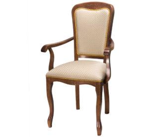 Кресло-стул с подлокотниками деревянный м3345