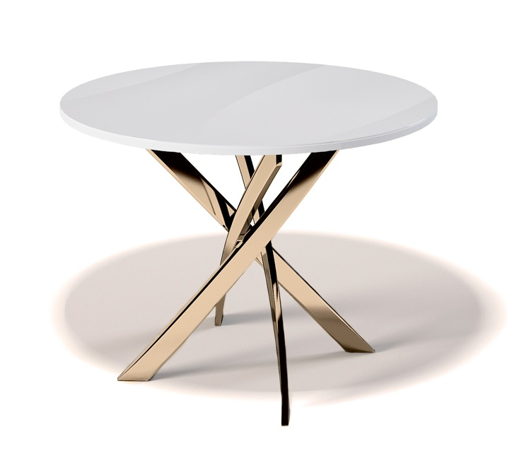 Стол обеденный с золотыми ножками (арт. М4509)