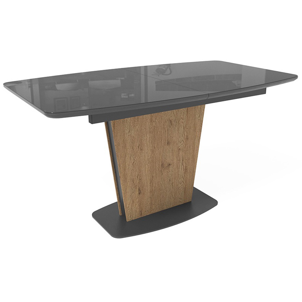 Кухонный стол Лион графит/дуб антор натуральный (арт. М4449)