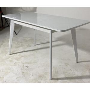 Кухонный стол белый со стеклянной столешницей М4480