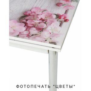 Кухонный стол с рисунком цветы M4462