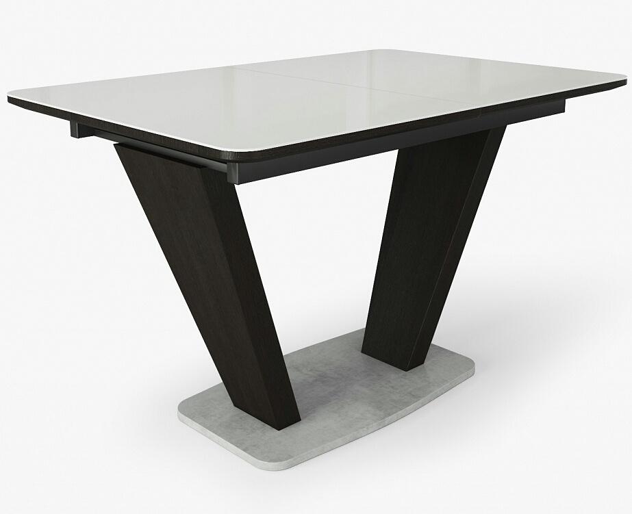 Стеклянный кухонный стол в современном стиле 120 см. (арт. М4387)