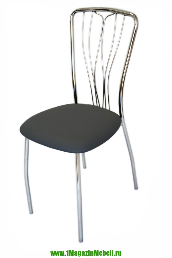 Стул для кухни, цвет серый, металл, хром, не дорого (арт. М3134)