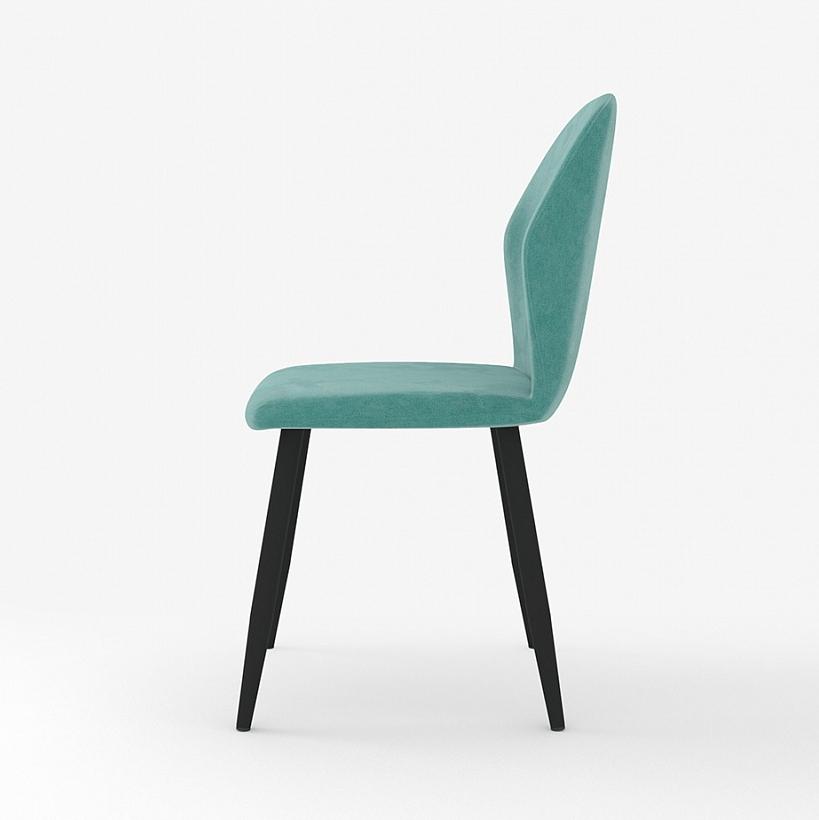Бирюзовый стул для кухни, мягкий, вельвет (арт. М3390)