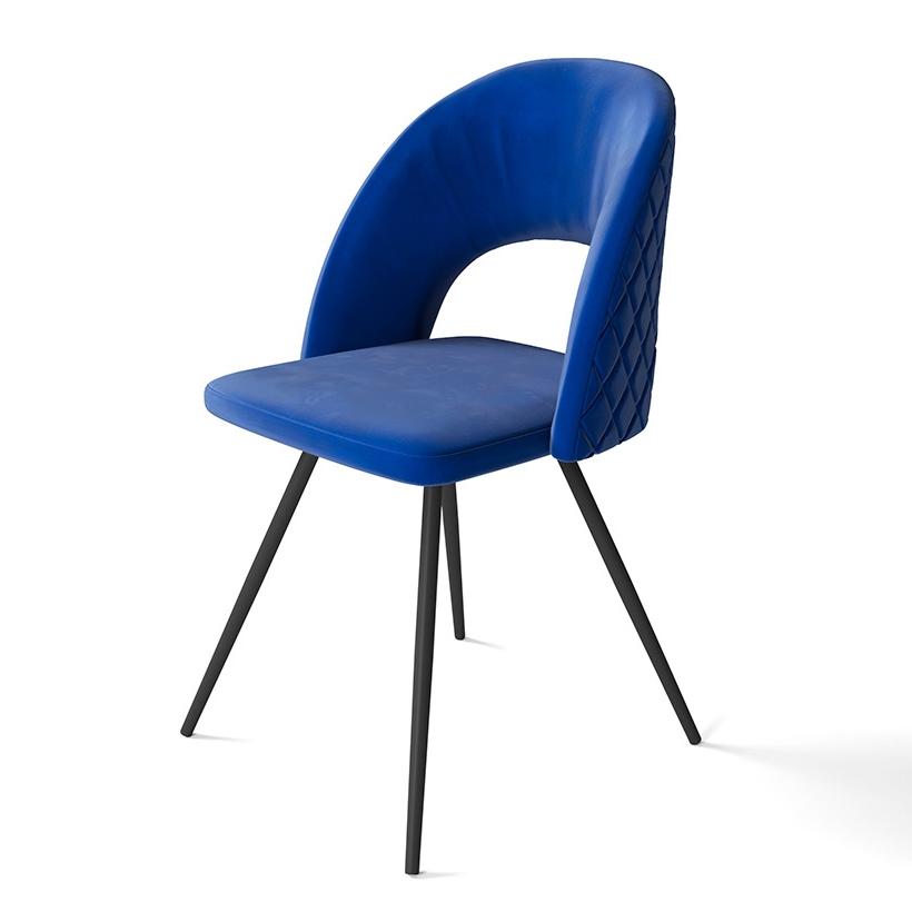 Модный стул, цвет синий, ткань велюр (арт. М3411)