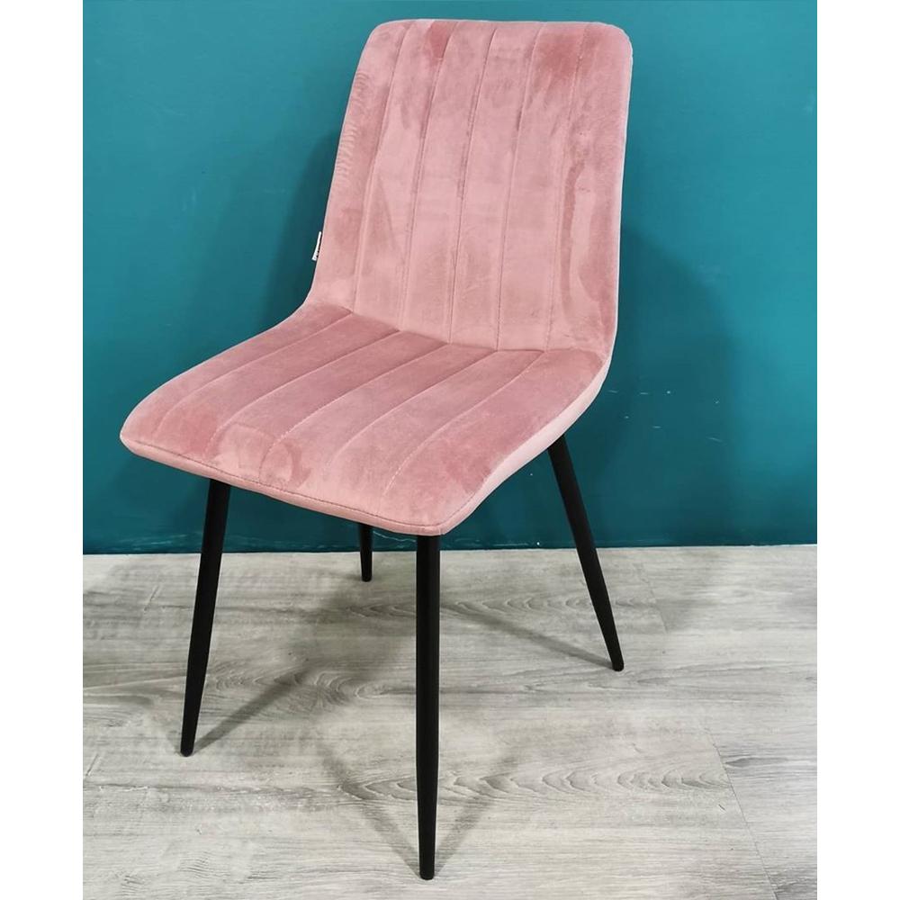Стул розового цвета, обивка велюр (арт. М3466)