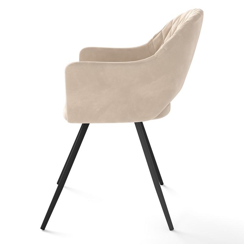Мягкий стул для кухни с прошивкой ромб на спинке (арт. М3382)