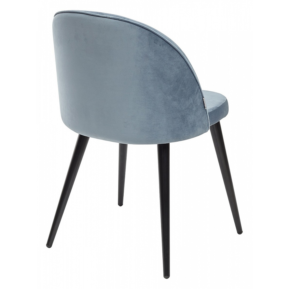 Синий стул для кухни на металлическом каркасе (арт. М3455)
