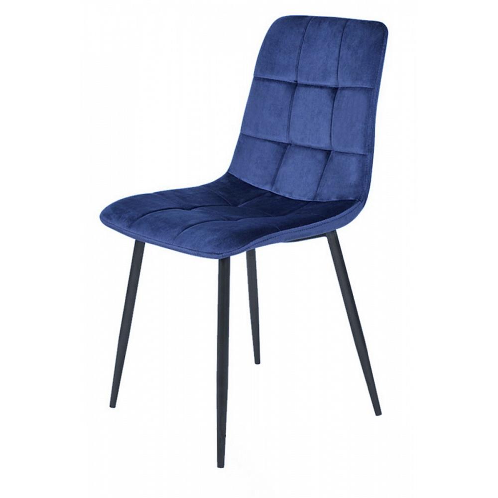 Стул мягкий для гостиной, цвет синий велюр (арт. М3484)