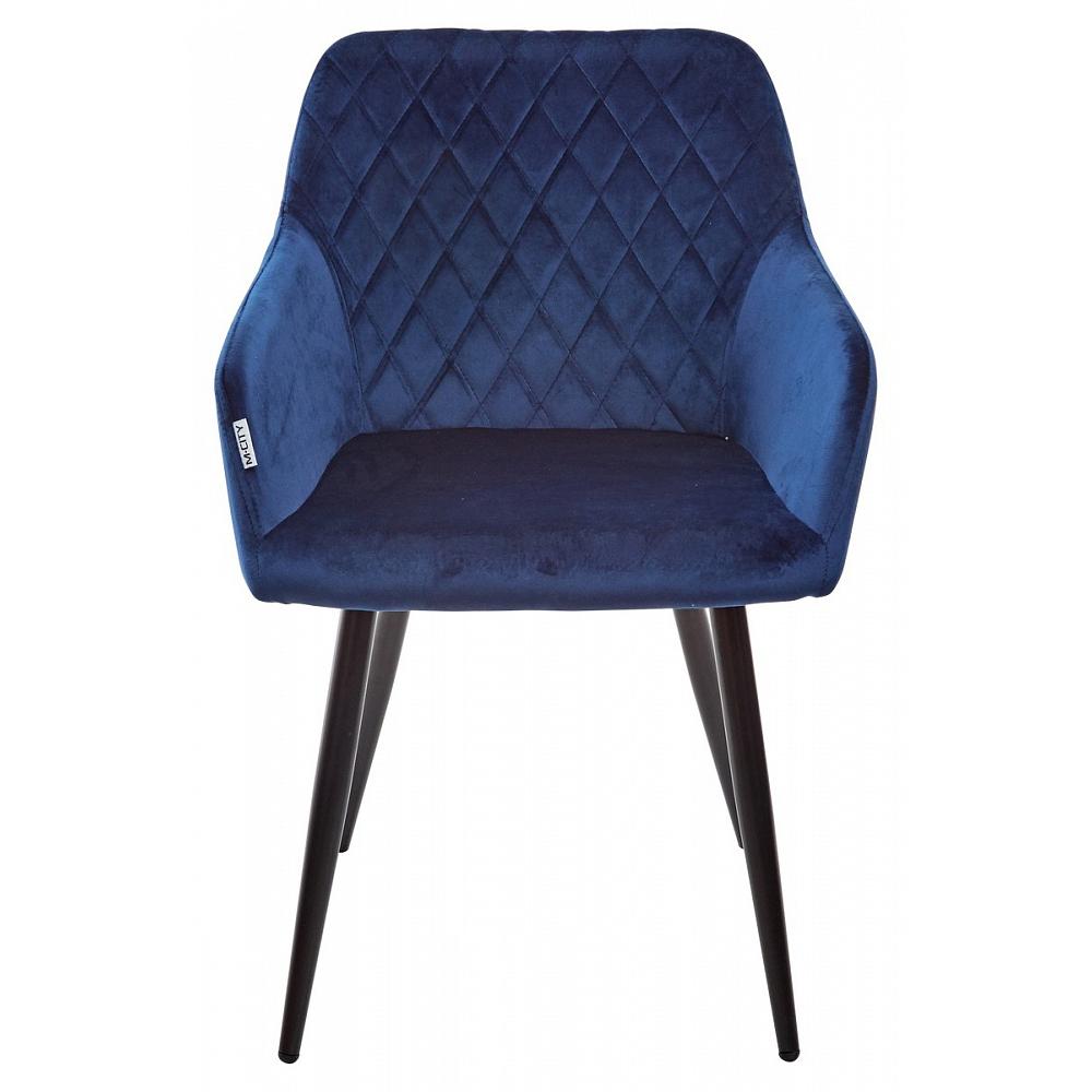 Кресло синего цвета, обивка — велюр (арт. М3458)