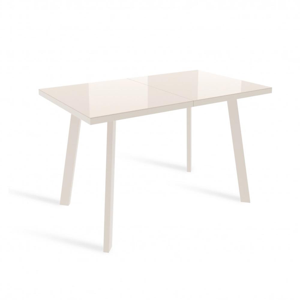 Обеденный стол кремового цвета, стеклянный (арт. М4526)