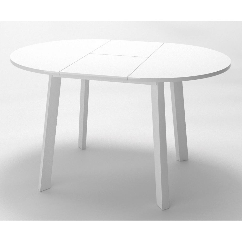 Обеденный стол, круглый, раздвижной, белый (арт. М4534)