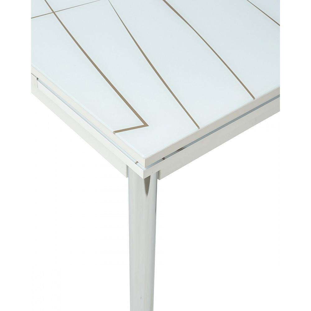 Обеденный стол с фотопечатью, стеклянный, раздвижной (арт. М4465)