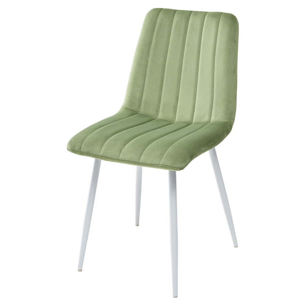 Оливковый стул для кухни на белых ножках (арт. М3536)