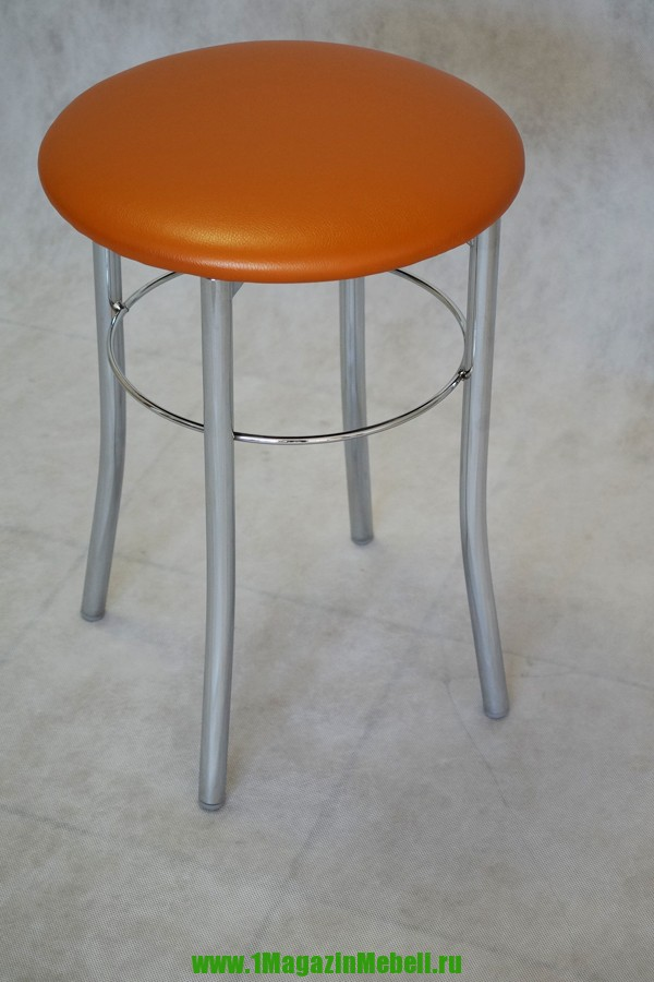 Оранжевый табурет для кухни, металлический, круглый (арт. М3126)