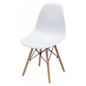 Пластиковый стул с деревянными ножками М3413