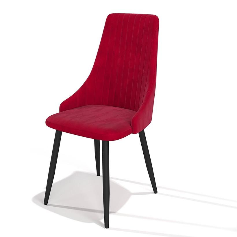 Эффектный яркий красный стул для кухни (арт. М3396)