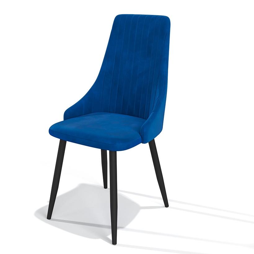 Современный велюровый кухонный стул на металлических ножках (арт. М3397)