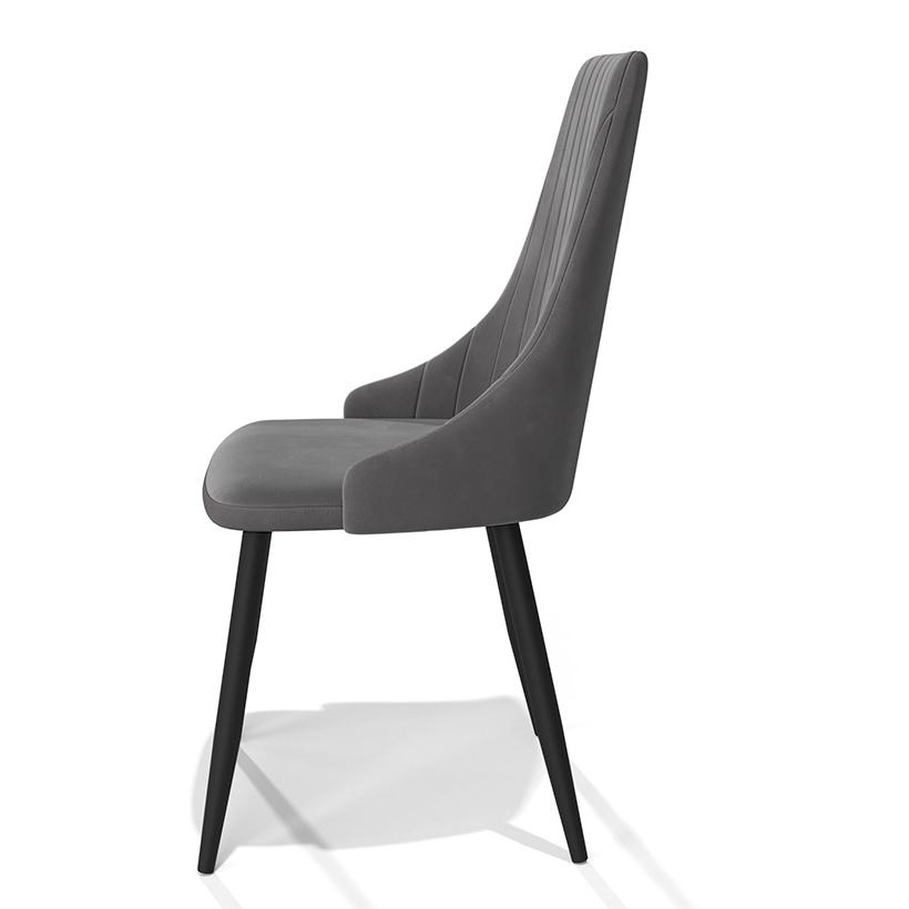 Стильный стул для кухни, цвет серый, велюр (арт. М3398)